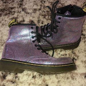 Dr Martens Purple Boots 13 Sparkle Shoes